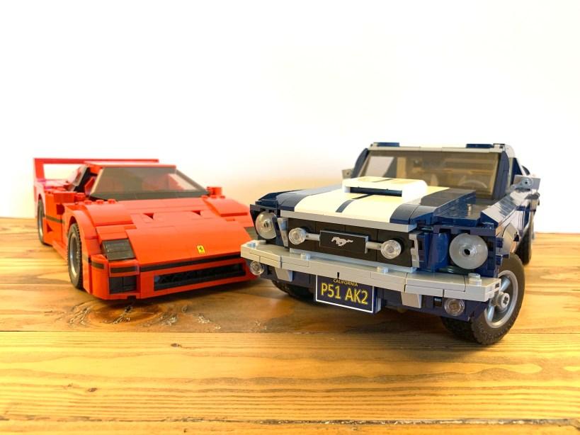 Lego Ferrari vs Ford Mustang