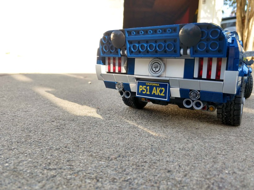 Lego Mustang - Rear View