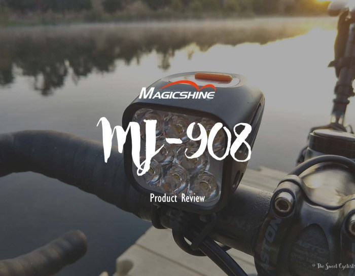 Magicshine  MJ-908, an absurdly bright bike light