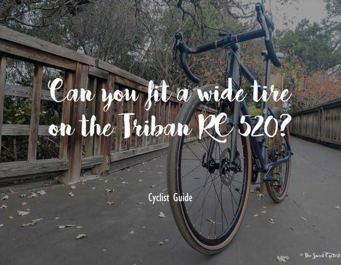How wide can you go on the Triban RC 520?
