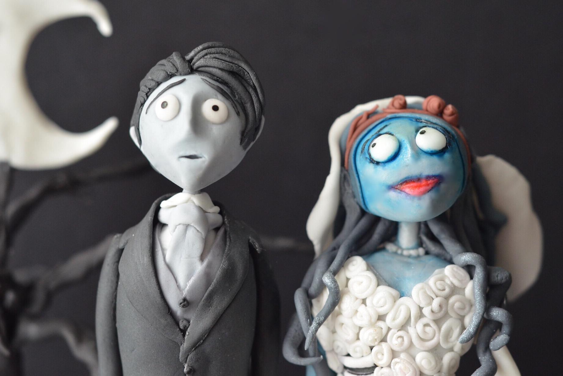 handcrafted fondant model, corpse bride