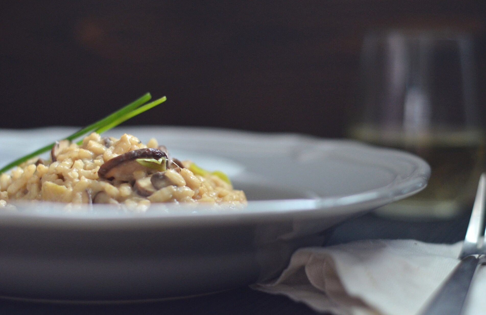 Authentic Italian Style Mushroom Risotto