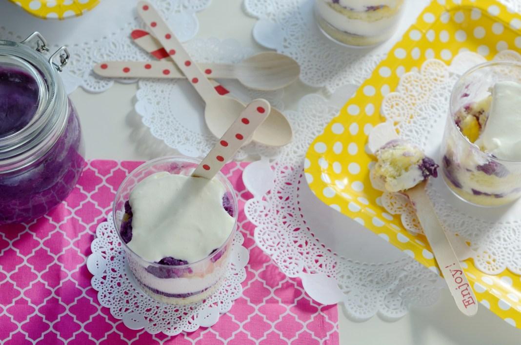 Purple yam trifle with purple yam jam recipe
