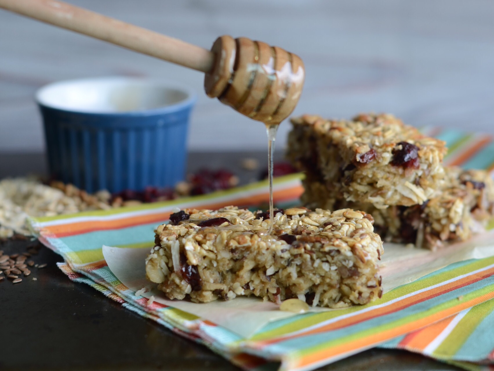 healthy honey glazed energy bars