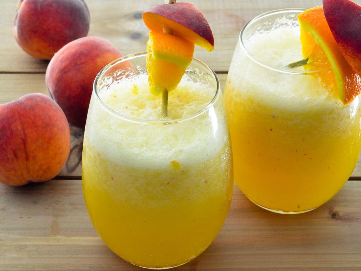 Peach Perfect Wine Smoothie