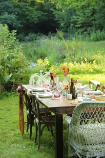 Outdoor Summer Dinner Party In Country - Sweet
