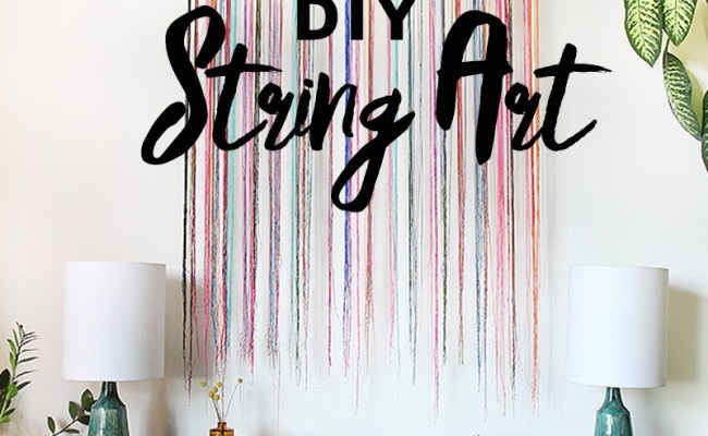 Diy String Wall Art The Sweet Escape Creative Studio