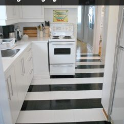 Kitchen Vinyl Floor Tiles Desk Ideas How To Lay Black And White Flooring In Stripes The Striped Tile