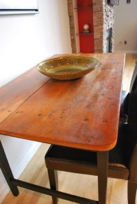 Dining Table: Pull Down Dining Table