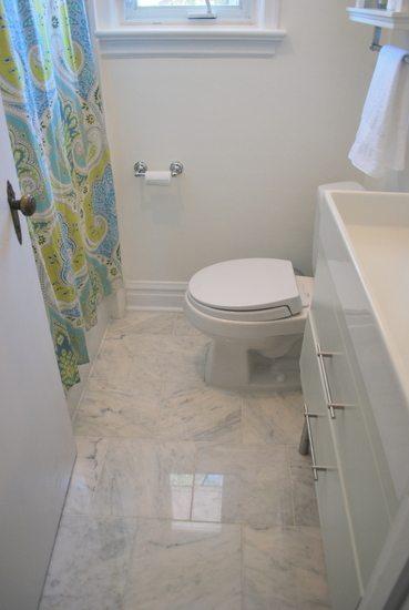 carrara marble floor tile for the