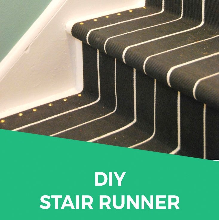 Diy Stair Runner How To Install A Diy Stair Runner With Ikea Rugs   Rug Runners For Stairs   Narrow   Landing   Victorian   Traditional   Persian