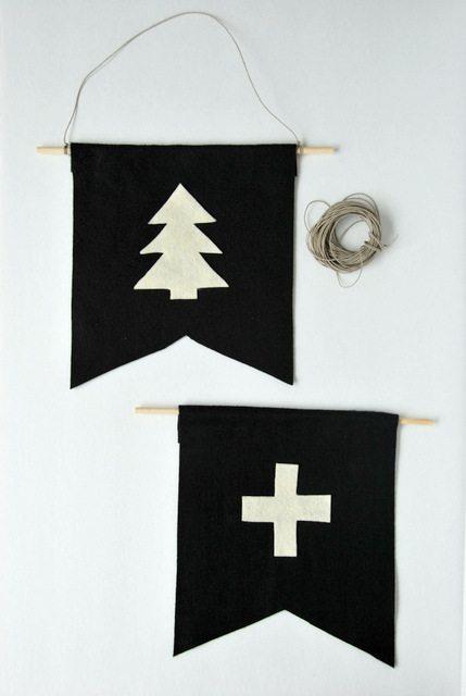 10 diy y manualidades para niños fáciles - banderines con fieltro