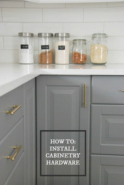kitchen pulls commercial tables how to choose and install gold hardware in your the cabinetry via sweetest digs