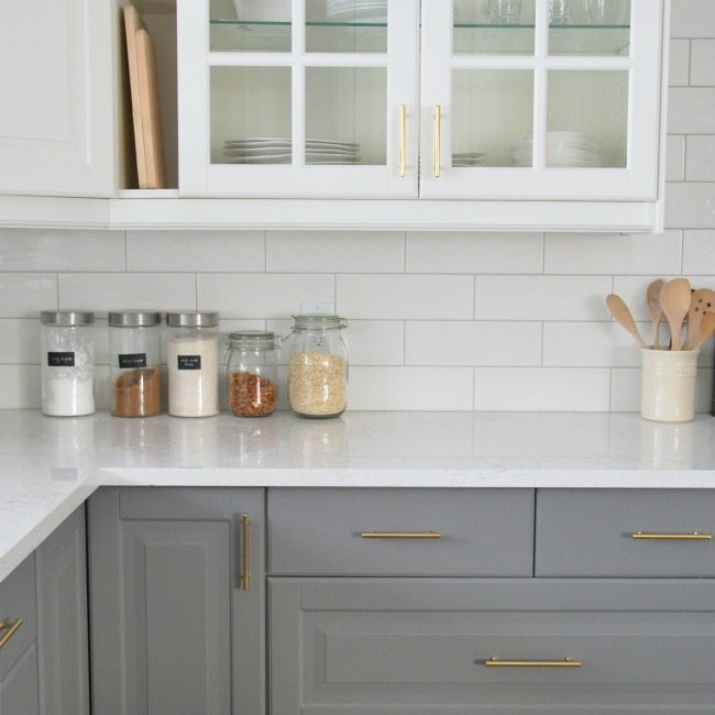 subway tile for kitchen newport brass faucets installing a backsplash in our the sweetest digs