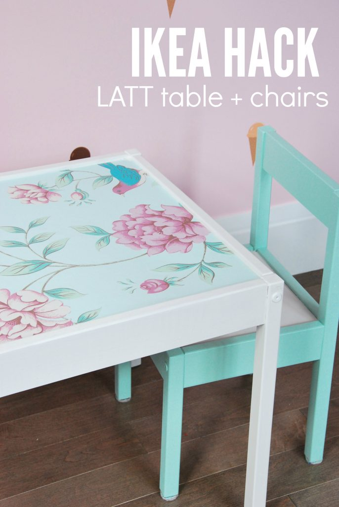 ikea kids table and chairs massage recliner latt hack to make the cutest chair set sweetest children s 2 via digs