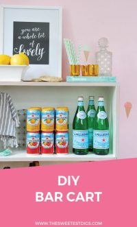 How To Turn An Old Bookcase Into A DIY Bar Cart