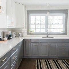 Kitchen Ikea What Is The Average Cost Of Refacing Cabinets A Gray And White Transformation Sweetest Digs Makeover Using Cabinetry Quartz Countertops Subway Tile