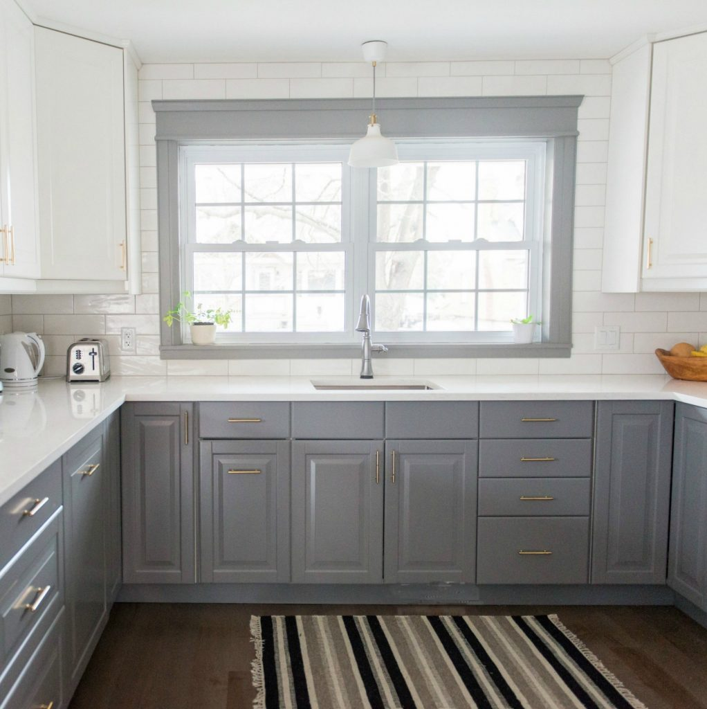 A Gray And White IKEA Kitchen Transformation The