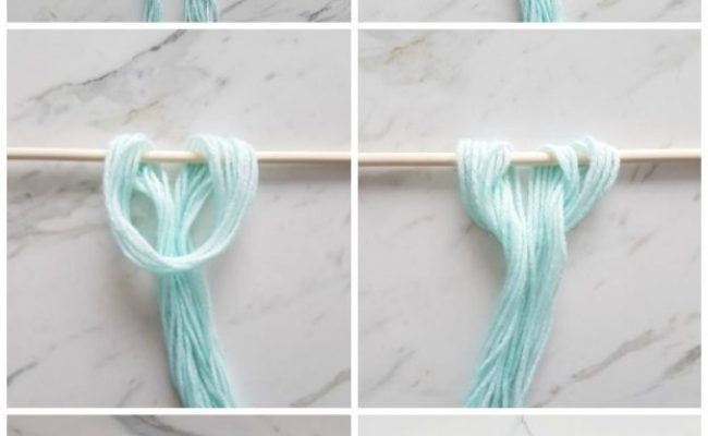 How To Make An Easy Diy Wall Hanging With Yarn The