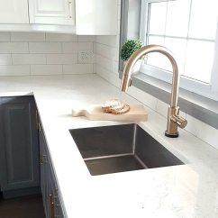 Gold Kitchen Faucet American Made Knives Fixing My Design Mistake With A By Delta The