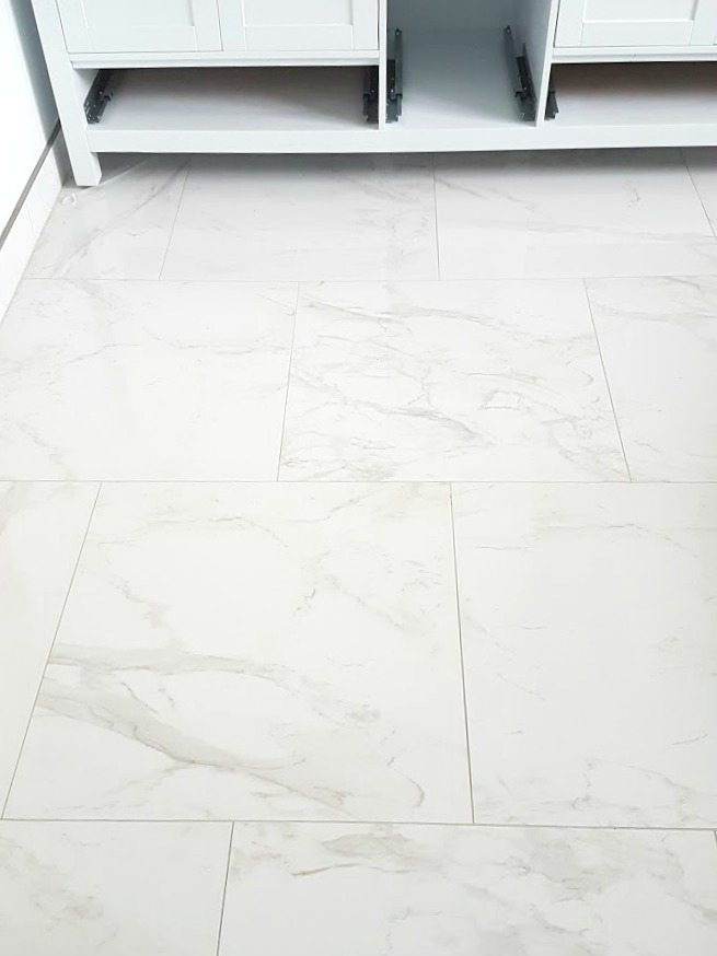White Marble Bathroom Floor Tiles Image Of Bathroom And Closet
