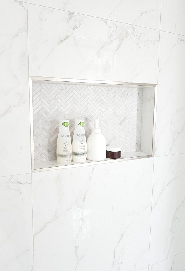 design a gorgeous marble shower on a