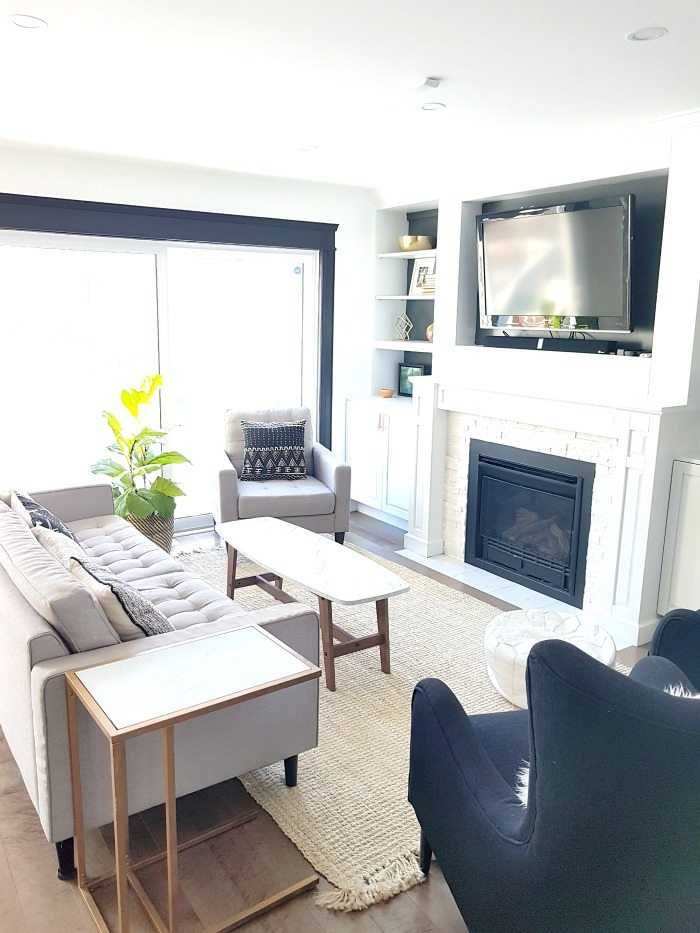painting living room furniture white round coffee table the best paint for walls jojo whitewash sweetest digs in our and dining it is perfect backdrop a mixture of neutral wood pieces greenery