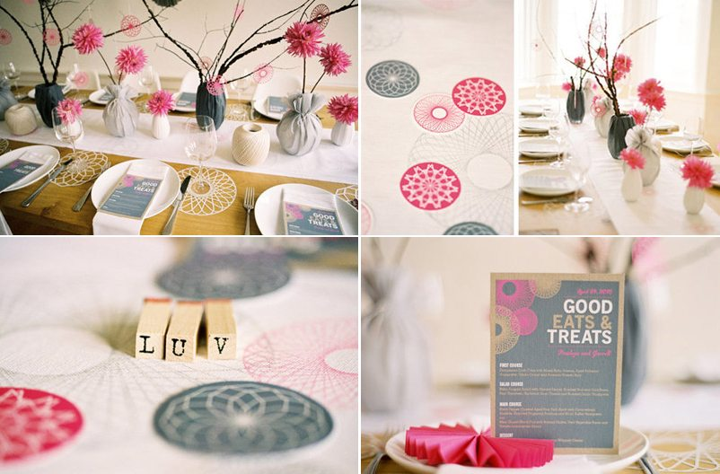 Spirograph Wedding Inspiration  The Sweetest Occasion