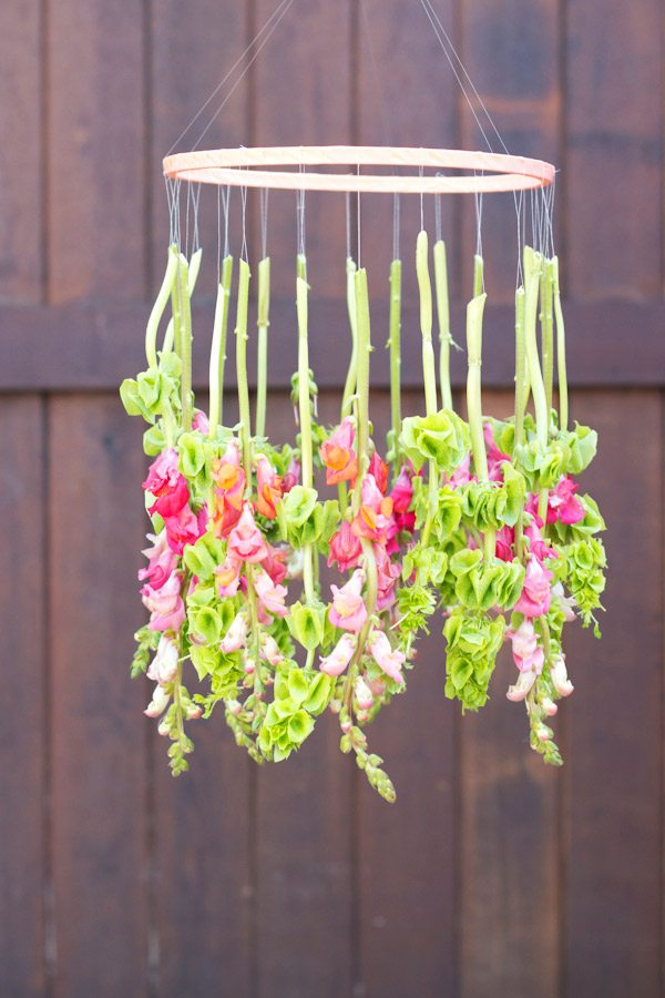 DIY Hanging Flower Chandelier  The Sweetest Occasion