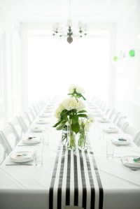 A Graphic Black + White Modern Baby Shower - The Sweetest ...