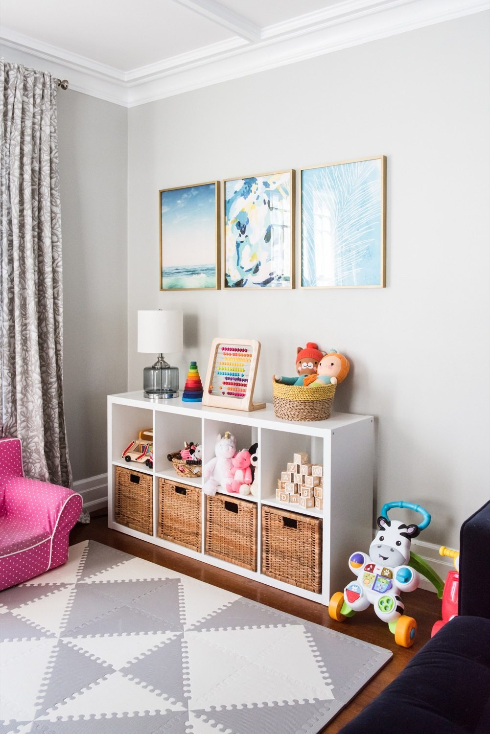 rope chair target bungee cord emerson's modern playroom tour - the sweetest occasion