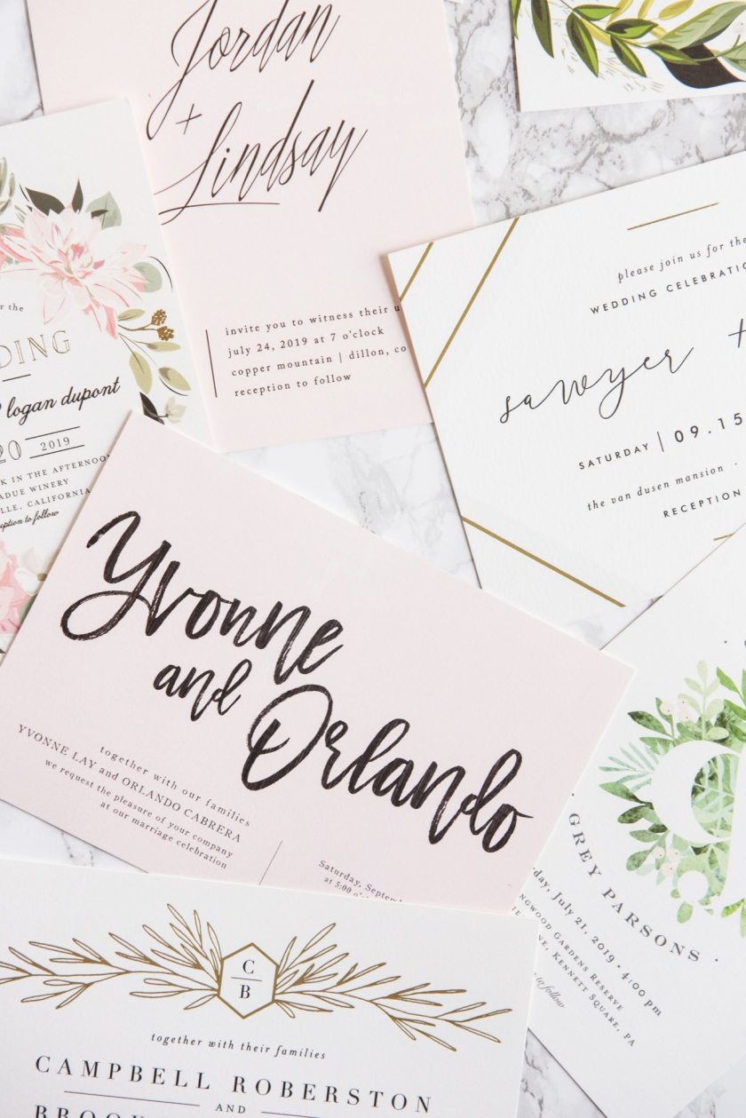 Modern Gold Foil Hand Lettered Wedding Invitations Ideas Entertaining Tips
