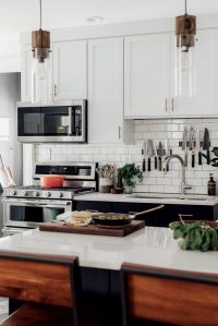 Michelle + Nick's Super Chic Modern Boho Kitchen - The ...