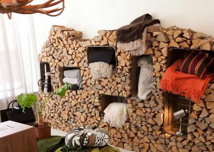 living room firewood holder paint colors for with dark brown couch 40 best diy indoor rack and storage ideas