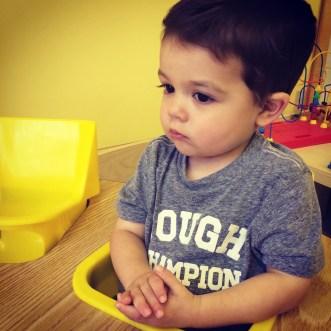 Praying at preschool.
