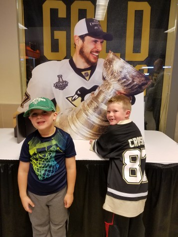 Excited to see Sid and the cup!