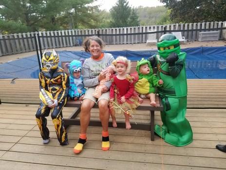 Grandma and her grandchildren