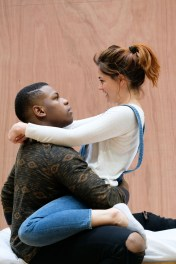 Sarah Greene (Marie) and John Boyega (Woyzeck). Woyzeck at The Old Vic, photo by Manuel Harlan (4)