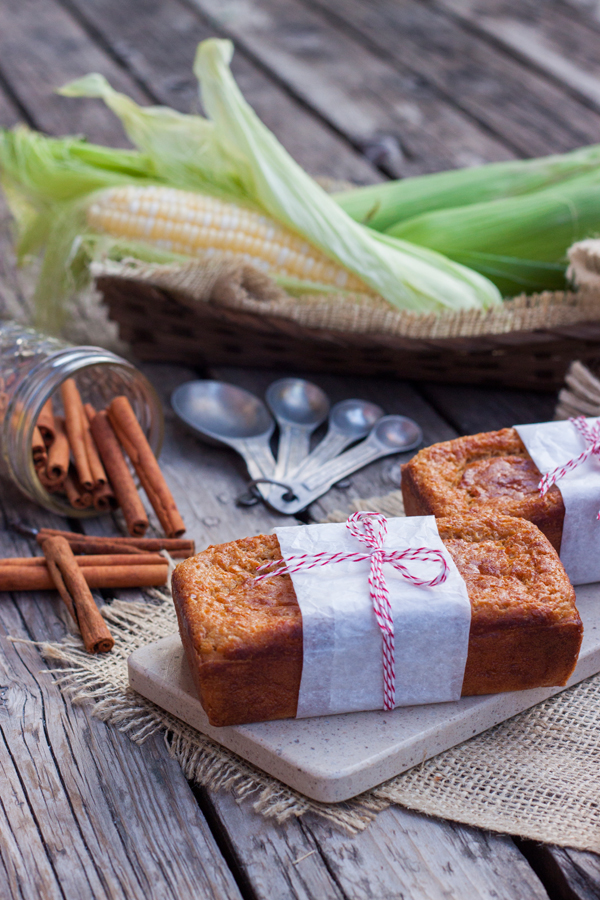 Regalos comestibles para Navidad - Receta de Pan de Elote-Corn Bread