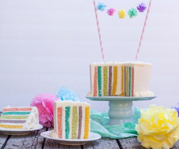Vertical Layer Cake de colores