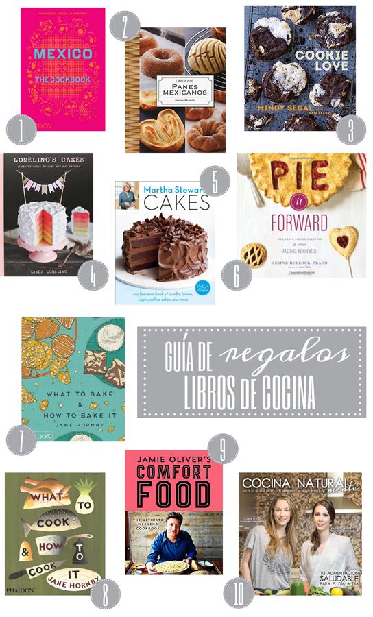 guia de regalos libros de cocina