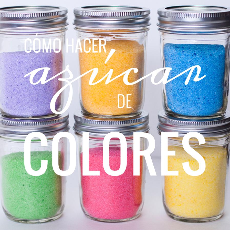 como hacer azucar de colores