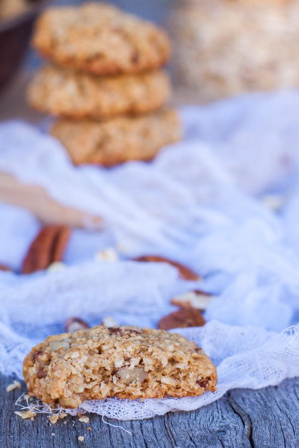 galletas de avena con nuez y miel
