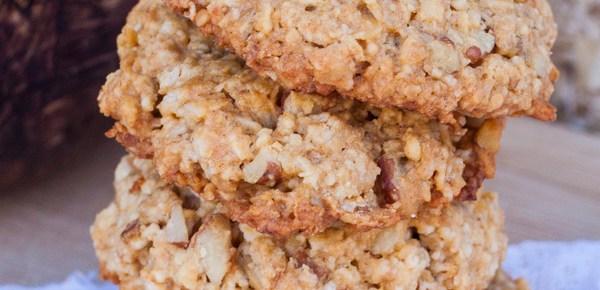 Receta de galletas de avena con nuez y miel
