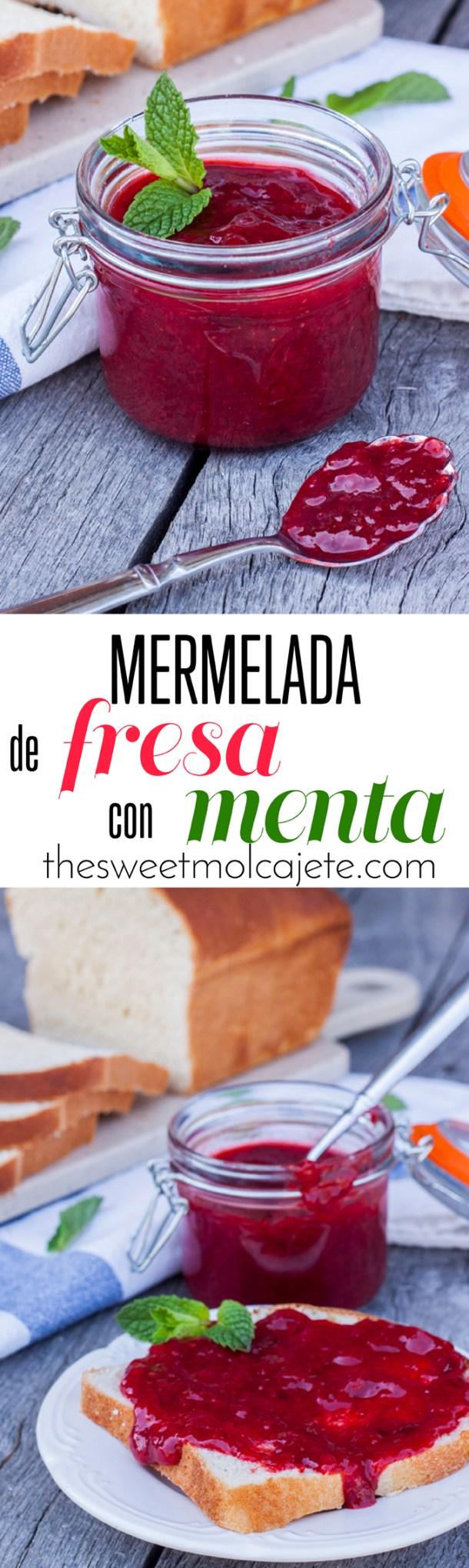 MERMELADA DE FRESA CON MENTA - the sweet molcajete