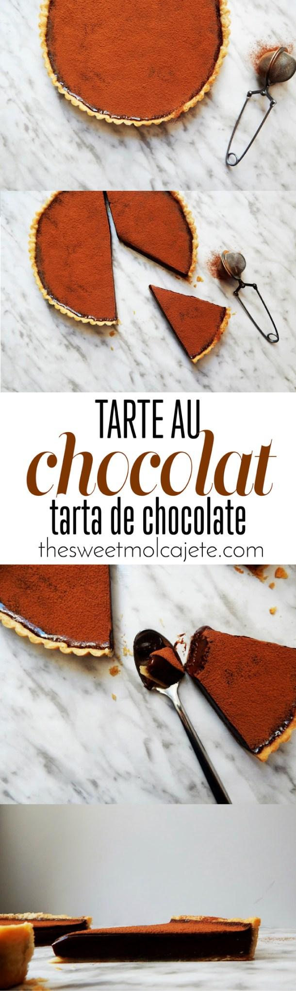 Tart Au Chocolat {Tarta de Chocolate} por @brunisboulanger