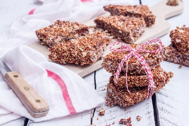 Receta para hacer Alegrías de Amaranto y Chocolate