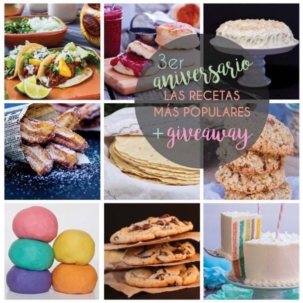 la mejores recetas y giveaway de aniversario