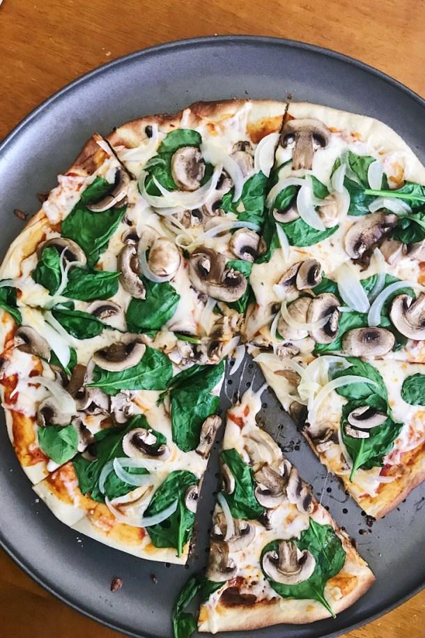 Pizza hecha en el Manos a la Masa Workshop: Taller de Panadería Casera