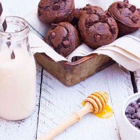 MUFFINS DE CHOCOLATE SÚPER RÁPIDOS {sin gluten}